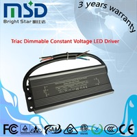 5.5A 12vdc 80W 0~100% dimming triac constant voltage led driver adjustable led lighting power supply, 3 years warranty