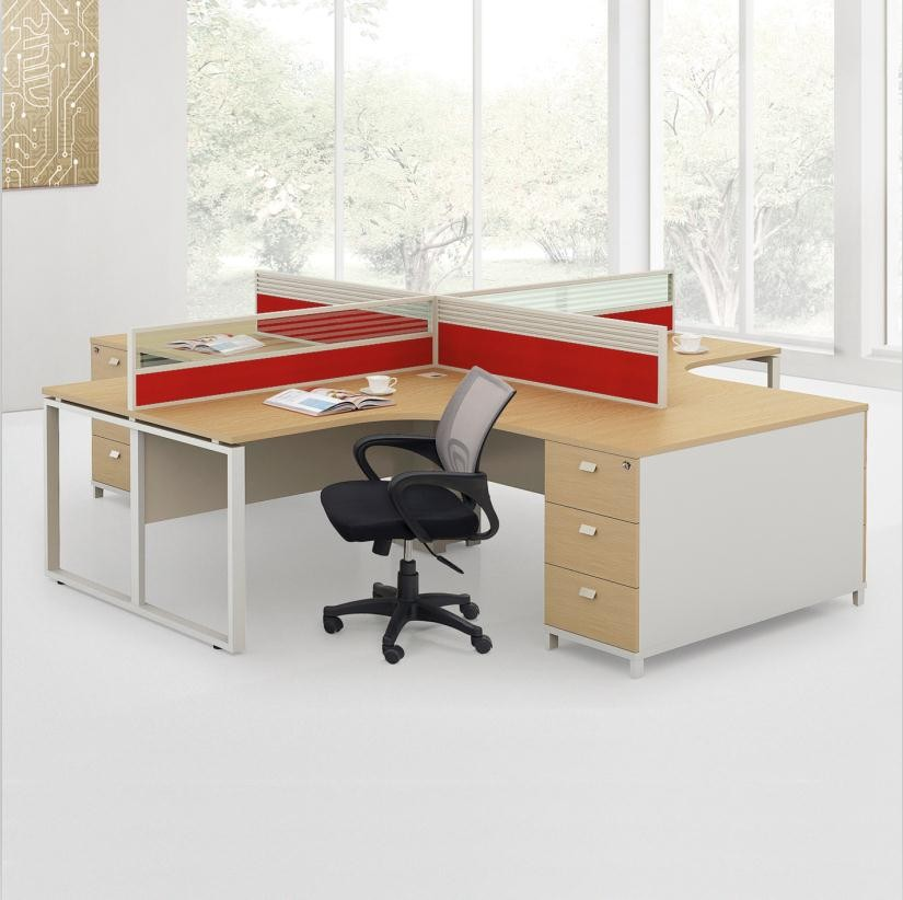 modular office workstation layout and office furniture