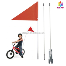 Bike safety flag pole, bicycle sports flag with fiberglass pole