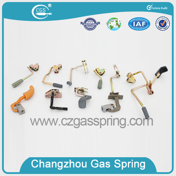 Wall bed lockable gas spring with button for sofa chair