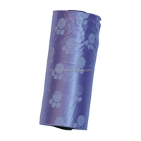 Pet product small dog's paw printing purple poop bags on roll