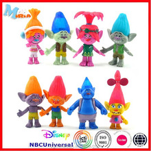 Trolls Doll Figure Toy 11cm Poppy Branch Chef Bridget Prince Gristle Biggie Guy Diamond Creek Mini figure For Kids Gift