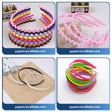 Plastic headband ,elastic black hair hoop for girls and ladies/plastic injection mould