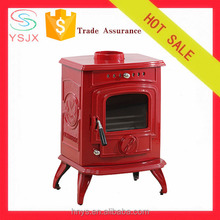 Unique design energy-saving enamel cast iron stove fireplace