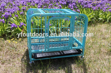Professional manufacturer large heavy duty galvanized dog kennel house cages with wheel
