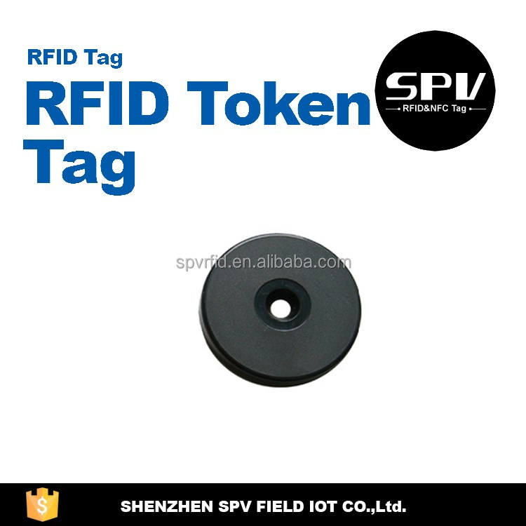 HF RFID Passive NTAG215 ISO14443A 13.56MHz NFC Plastic/Rubber Button for Tickets/Membership/Payment System