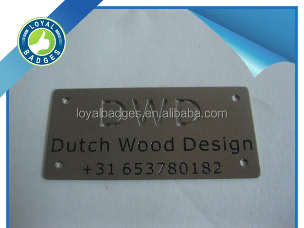 Custom shape stainless steel 304 plate with self adhesive