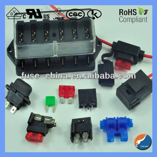 Red wire auto fuse holders