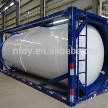 Liquid nitrogen transportation tank container