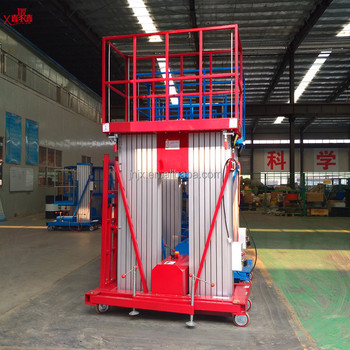 200kg Portable Electric Aerial Work Platform Vertical Manlift Platform