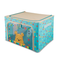 housewares fabric lined collapsible storage box with handle