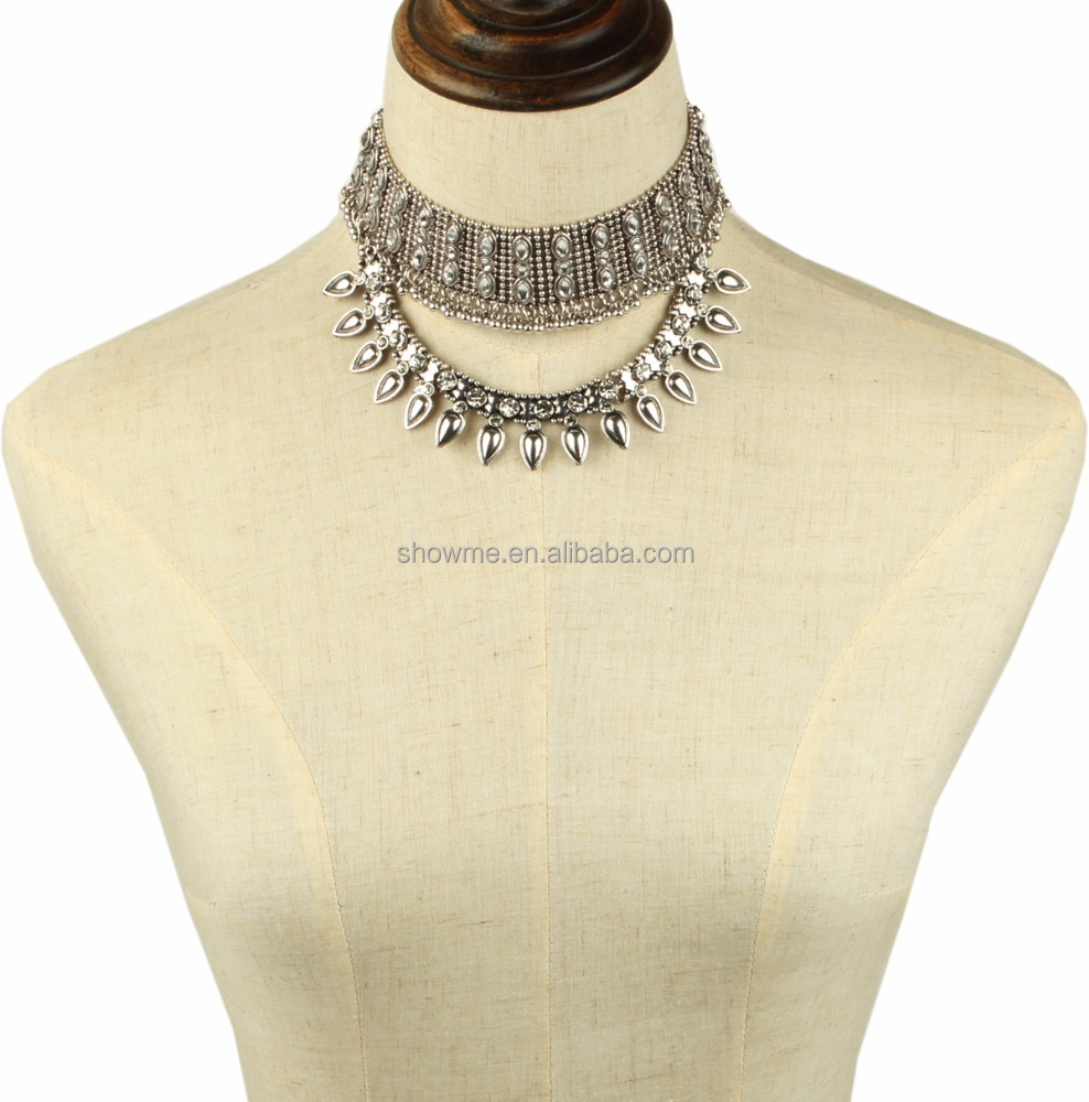 2016 Winter New Vintage silver Chokers, Costume ladies chokers, Turkish Chokers jewelry