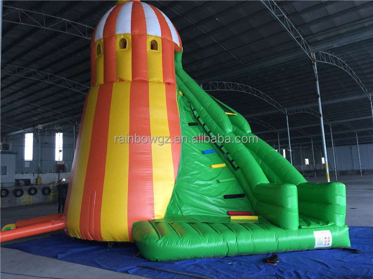 Giant Colorful Inflatable Bouncer Slide, Cheap Inflatable Dry Slide For Sale