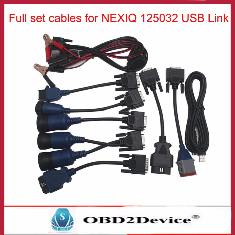 Cable for NEXIQ usb Link 125032 Truck Diesel Interface Software Full Set Nexiq Heavy Duty Diagnostic cable
