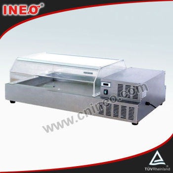 Buffet Table Top Refrigerated Show Case For Dispaly Salad Or Cold Food