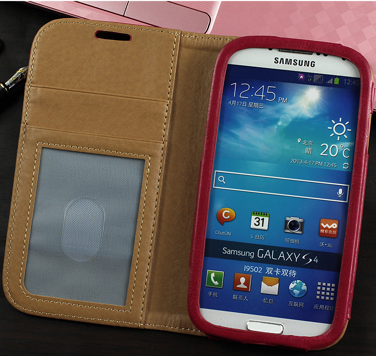 75% OFF ! For Samsung Galaxy S4 S5 Phone Leather Case , Custom Cell Phone Case For Samsung S4 S5