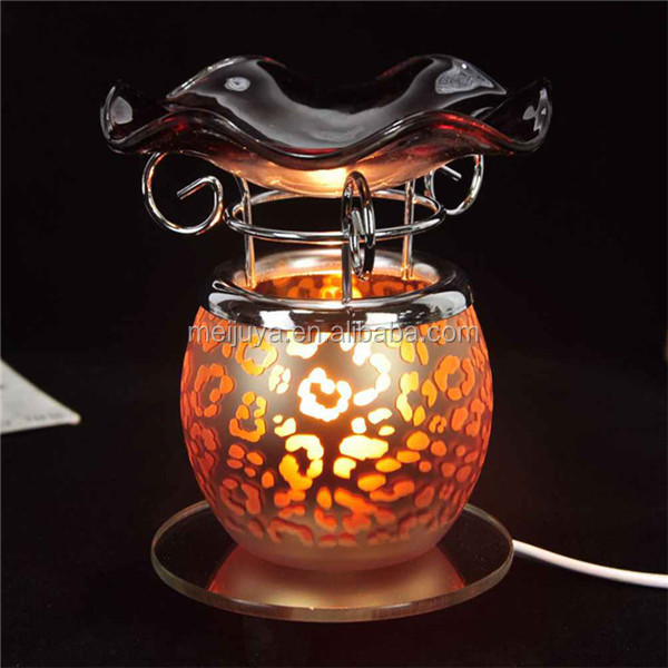supplier wholesale electric small glass fragrance oil burner lamps 122206