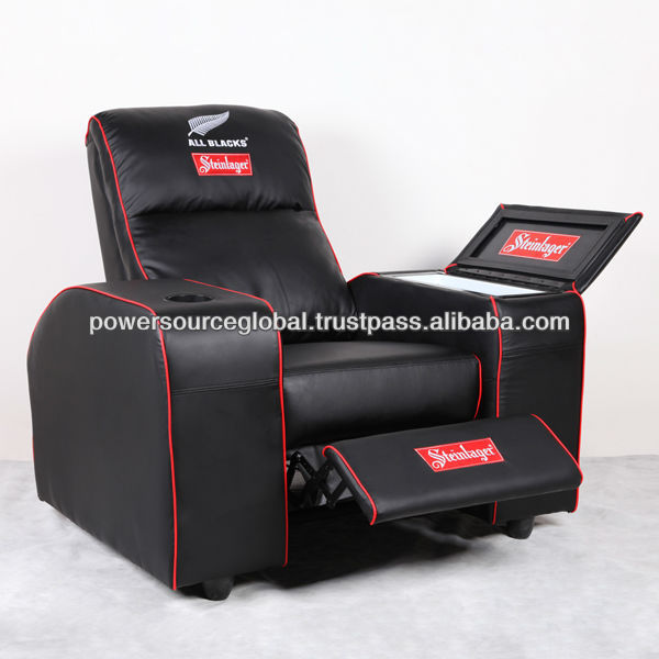 Single Recliner Sofa with Fridge