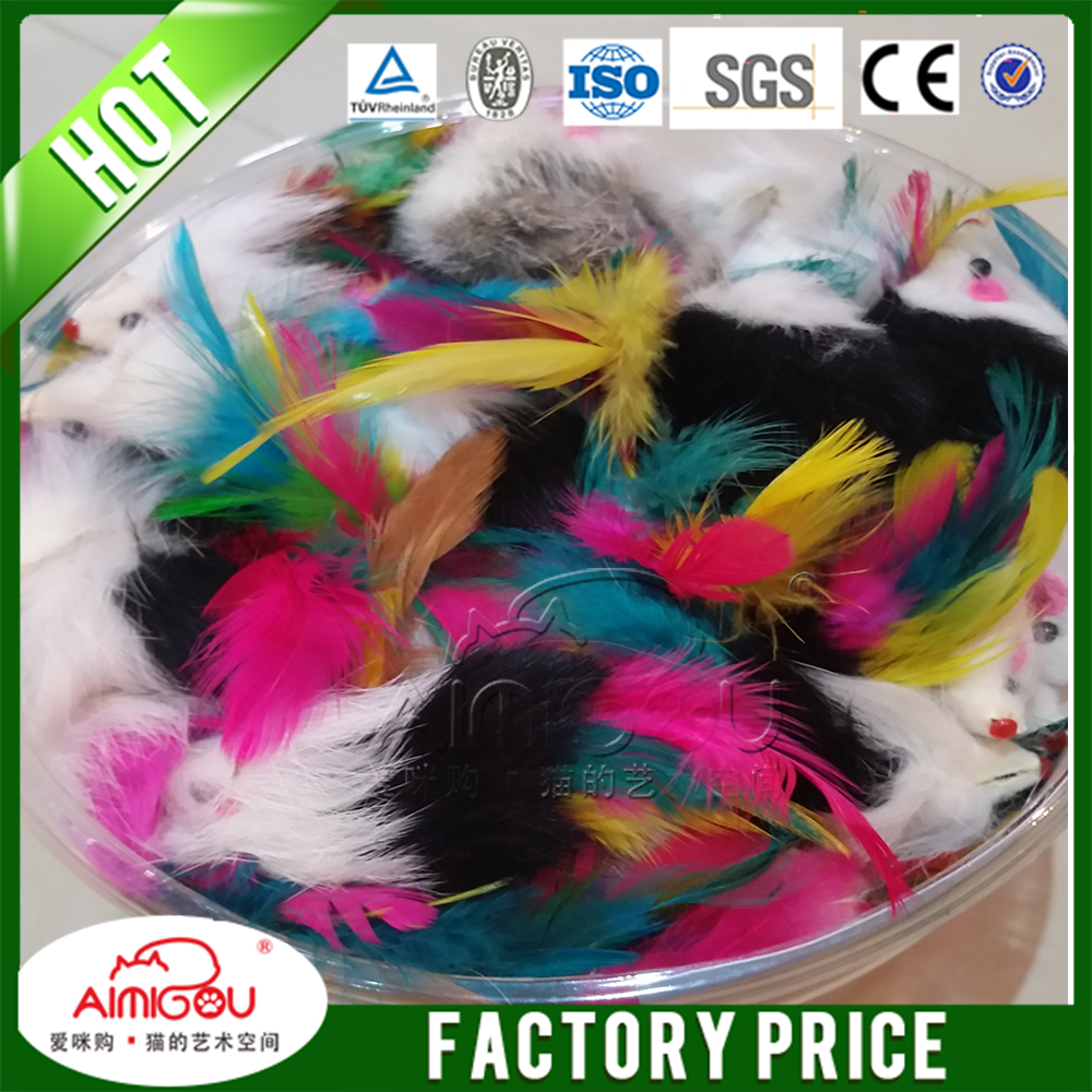 16 Years Factory Bulk Factory Cat Toy ,Faux Fur Rattle Sound Cat Toy Mouse
