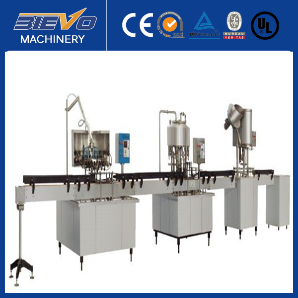 Split small capacity 2000BPH PET bottle washing filling capping linear machine for water and juice/split water filling machine