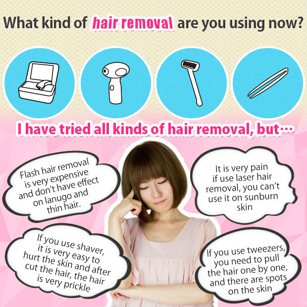 2016 new developed at home permanent hair removal