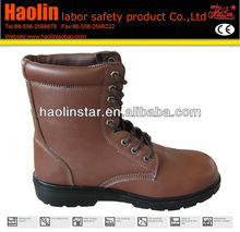 HL-S051 high-cut steel toe safety boots with lace