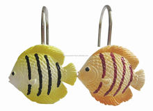 Bathroom fish Shower Curtain hooks