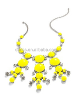 Fashion charm fluorescent color bubble bib necklace cheap