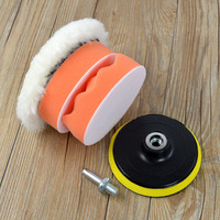 Wheel Buffing Set Kit for Auto Polisher Round Car Polishing Pad