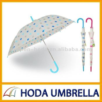 POE children umbrella Safe Kid's Dots Rain Umbrella For Kids' Gift