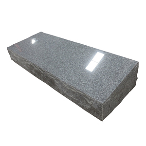Chinese G633 granite bevels design grey monument