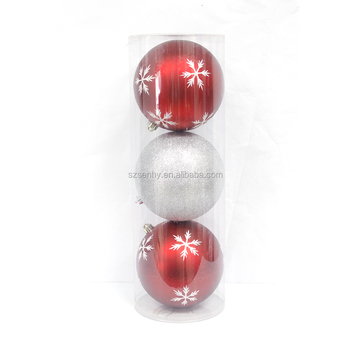 Shatterproof high quality plastic painted Christmas ball