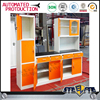 Household furniture prefab iron painting steel kitchen cabinet for south africa