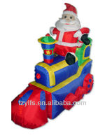 Inflatable Santa Claus train toy christmas decorations outdoor