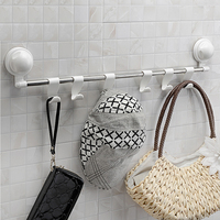 1058 SQ 6 cloth coat suction cup wall mount hanging hook