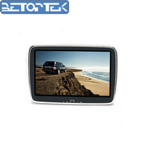 Easy to install DC 12-24V 9 Inch 16:9 TFT LCD Car headrest Monitor support MP5 headphone socket