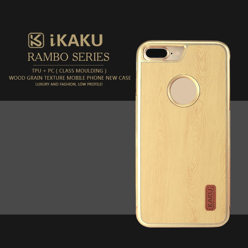 Yellow color 5.5 inch high quality accessories wood pattern tpu leather hybrid bumper phone case for iphone 6 7