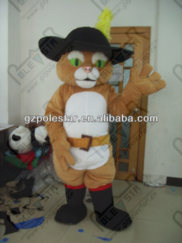 high quality cat in boots mascot costumes NO.4460