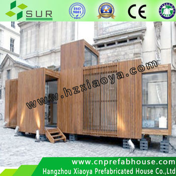prefab modern steel cabin/hotel sleep box/20 flat pack container home iso