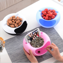 Multifunctional Double Layer Dry Fruit Containers Plastic Snacks Seeds Storage Box