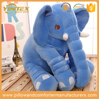 2017 new Large Baby Kids Toddler Stuffed Elephant Plush Pillow/Gray color animal toy baby pillow