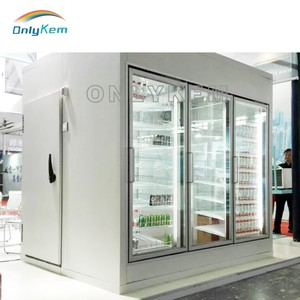 Super market used cold freezer room with glass door for ice cream display