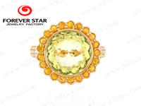 New Product Big Stone Gold Ring Design 18K Gold Jewelry Wholesale