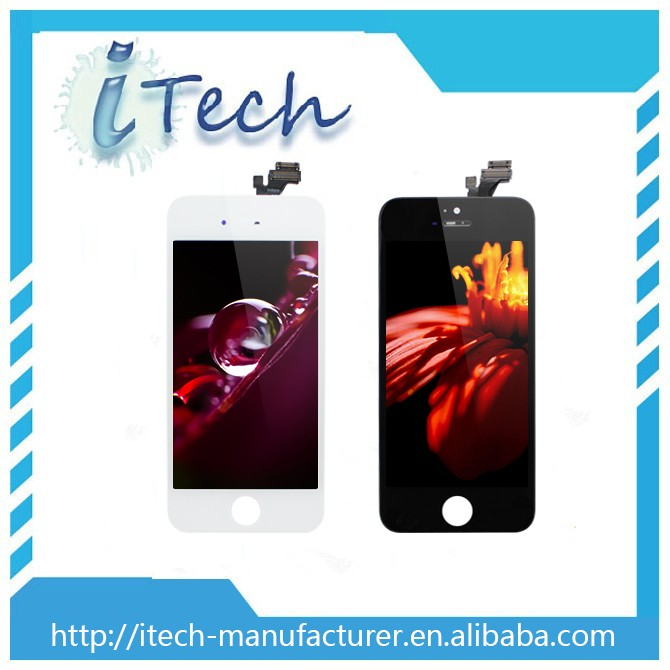New fashion high quality grass LCD assembly for Iphone 5 , clear LCD screen for iphone 5 with China low price