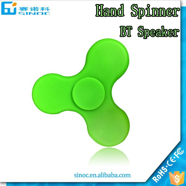 LED Light Finger Spinner With Bluetooth Speaker, Reducing Stress Hand Spinning Toys for Kids