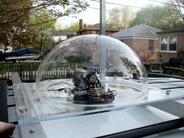 Large custom clear acrylic half dome / clear plastic domes wholesale