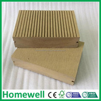Eco building material wpc solid grooved deck board