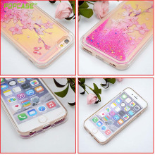 glittering sandy PC+TPU case for Iphone