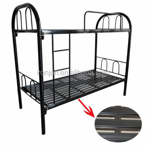 cheapest wrought metal iron bunk beds for construction site from China