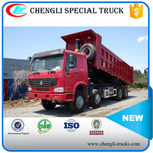 china supplier 55 tons loading 28cbm dump body 12 wheels 8*4 type 371hp SINOTRUK HOWO tipper for sale